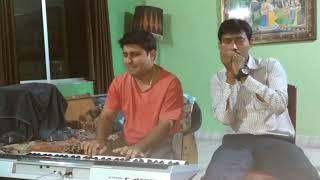 Muskurane Ki Bajaha (Ujjal Dutta on Harmonica & Abhishek Pramanik on Keyboard)