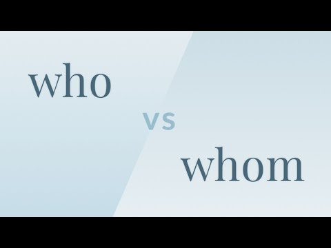 Who vs. Whom - Merriam-Webster Ask the Editor