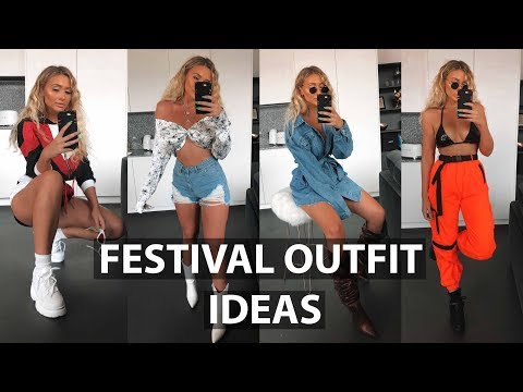 FESTIVAL OUTFIT IDEAS   PRETTY LITTLE THING TRY ON HAUL
