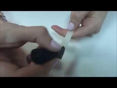 Черные матовые ногти с глянцевым френчем