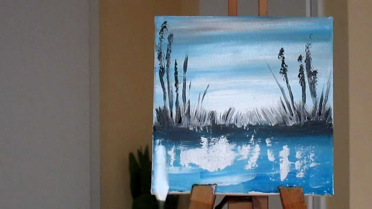 Tanja bell how to paint landscape acrylic painting youtube for How to paint with acrylic colors