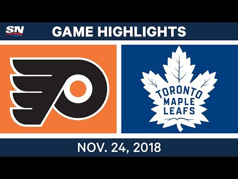 NHL Highlights | Flyers vs. Maple Leafs – Nov. 24, 2018