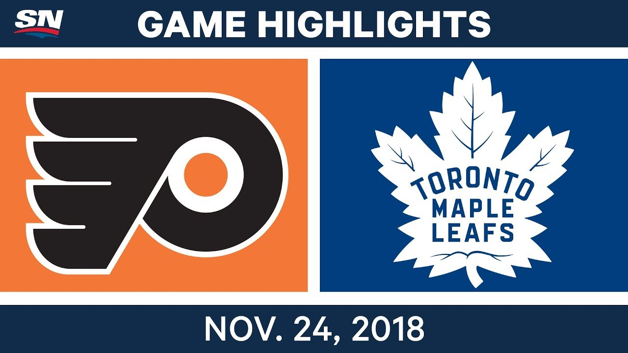 nhl highlights flyers vs maple leafs nov 24 2018 youtube