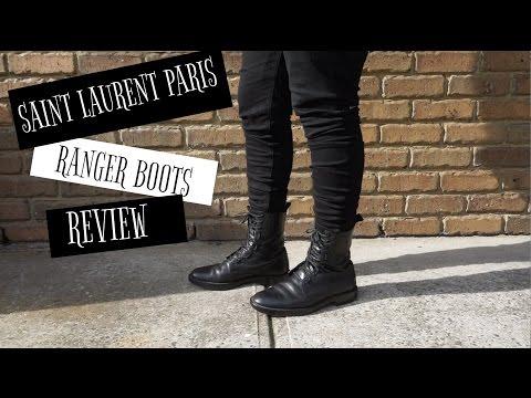 385eaf93f46 Saint Laurent Ranger Boots Review (non-zip) - YouTube