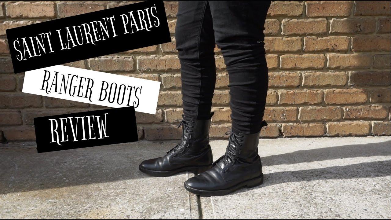 1a17d1f3b9b7 Saint Laurent Ranger Boots Review (non-zip) - YouTube
