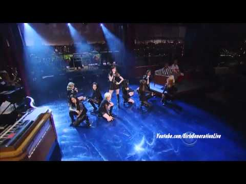 [HD] SNSD / Girls Generation - The Boys (English Version) @ David Letterman Show