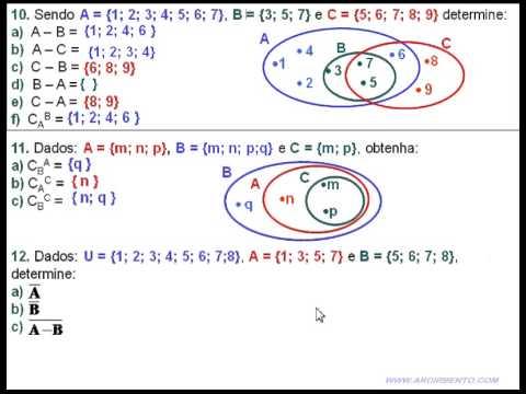 19 conjuntos exerccios 10 11 e 12 complementar e subtrao youtube 19 conjuntos exerccios 10 11 e 12 complementar e subtrao ccuart Choice Image