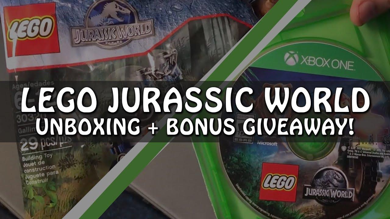 lego jurassic world xbox one unboxing  giveaway  youtube