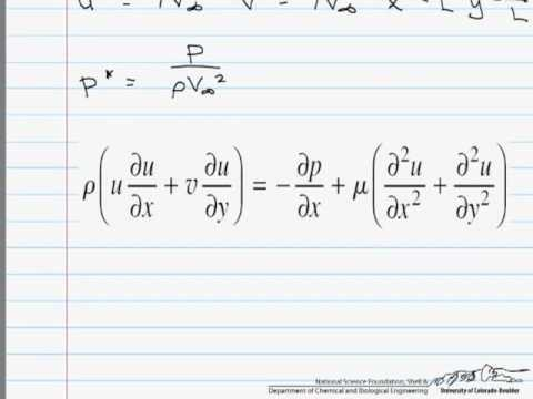 Deriving the Dimensionless Equations of Motion