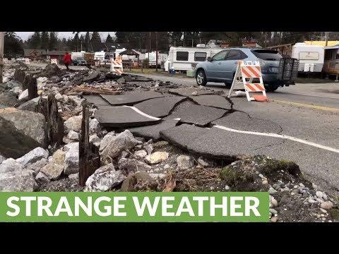 Winter storm totally decimates coastal town's shoreline