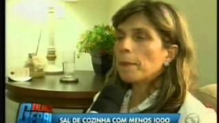 Balanço Geral - Record Sal com menos iodo - Cristina Trovó