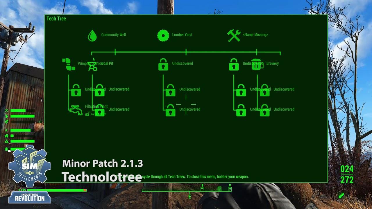 Sim Settlements: Patch - Technolotree