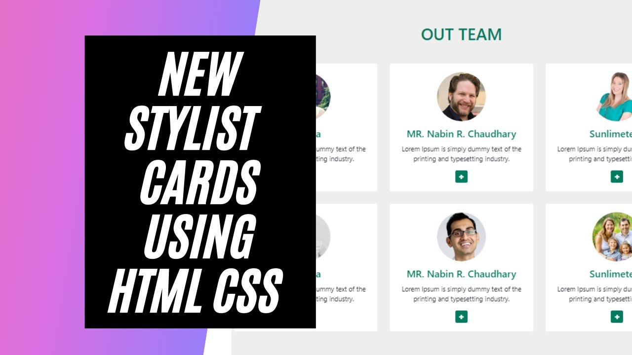 New Stylist Bootstrap cards using HTML, CSS and Bootstrap 5