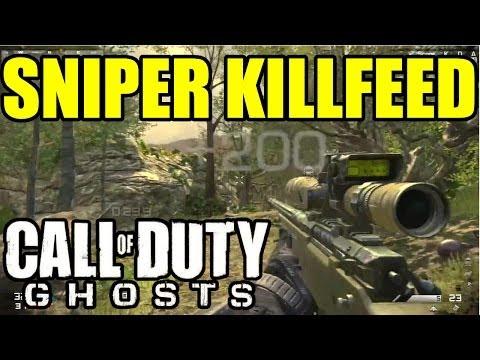 Play COD GHOSTS SNIPER KILLFEED | 5 on screen, quadfeed Headshot ...