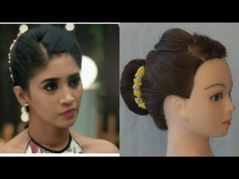 easy-wedding-party-bun-hairstyle-for-girls-inspired-by-naira-\-easy-party-hairstyle-for-girls