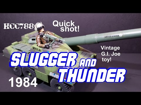 HCC788 Quick shot! 1984 SLUGGER and THUNDER! Vintage G.I. Joe toy review!