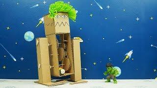DIY Monster Robot Cardboard with DC Motor - Monster vs Hulk