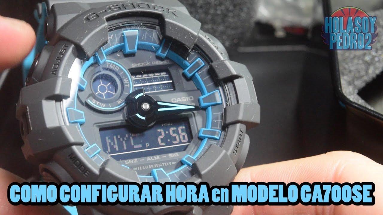 Reloj Ga 700se 1a2dr Como Ajustar La Hora Como Cambar Hora Youtube