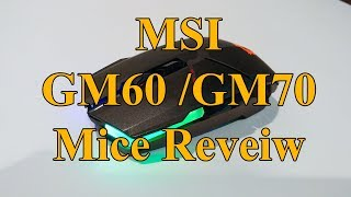 MSI Clutch GM60 & GM70 Gaming Mouse Review