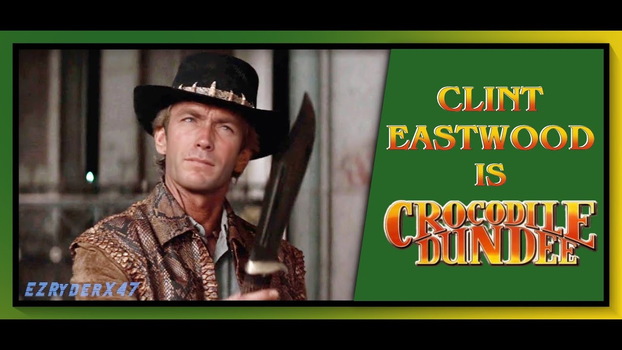 [ deepfake ] : Clint Eastwood as Mick Dundee - That's a knife|Crocodile Dundee (1986) |Video