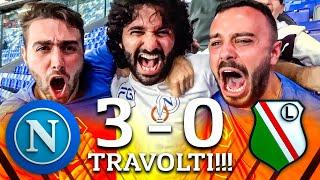 TRAVOLTI!!! NAPOLI 3-0 LEGIA VARSAVIA   LIVE REACTION NAPOLETANI AL MARADONA HD