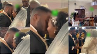 Kwame Despite Son Kiss Wife in White Wedding, Million Dollar Ring, Flowers...