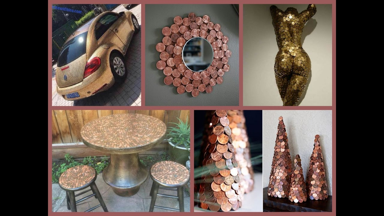 Diy Car Art : Recycled penny craft ideas amazing arts and crafts
