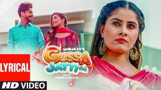 Gussa Jatti Da: Gurjazz (Full Lyrical Song) KV Singh | Ranaa | Latest Punjabi Songs 2019