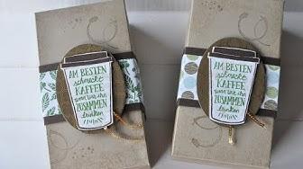Tutorial: 1/2 Pfund Kaffee verpacken mit Stampin' Up! (& Gewinnspiel)