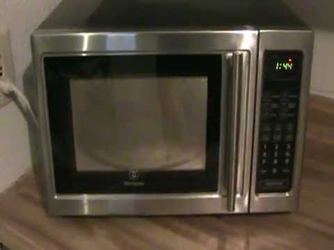 Fleamarket Find Westinghouse Stainless Steel Microwave
