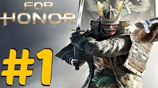 For Honor (PS4) - Gameplay Walkthrough Part 1 - Prologue (Closed Alpha) Samurai 1080P HD