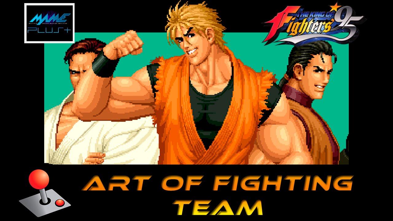 Kof 95 Arcade Art Of Fighting Team Youtube