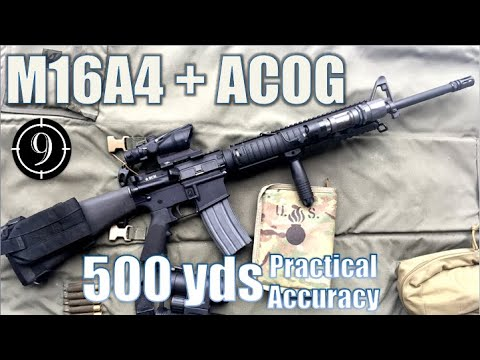 M16A4 + ACOG to 500yds: Practical Accuracy (BCM upper ... M16a4 Acog