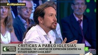 """Pablo Iglesias: """"Mi libertad de expresión siempre ha estado..."""