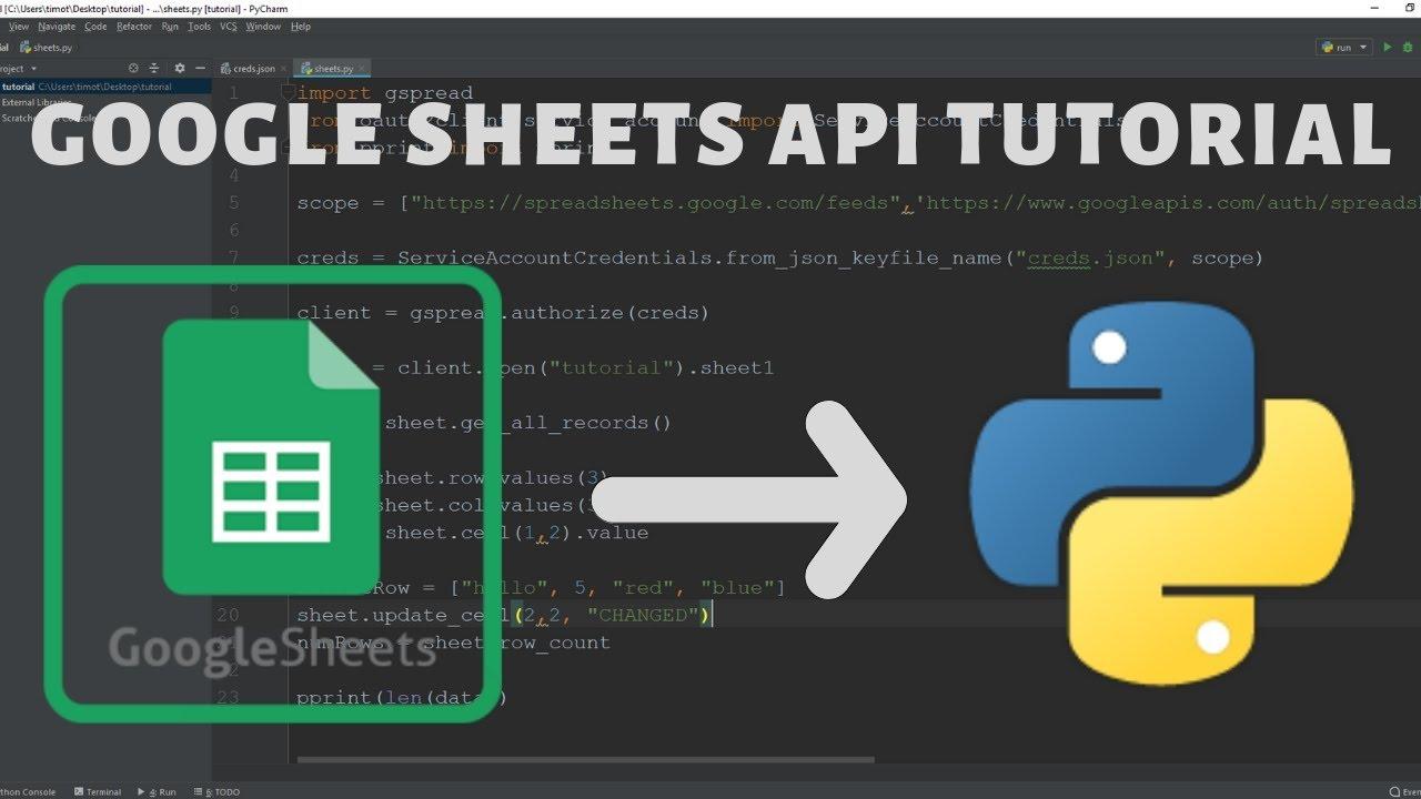 Python Google Sheets API Tutorial - 2019