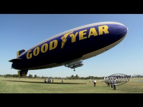 Goodyear Blimp - MotoMan Learns How to Pilot the Goodyear Blimp - Part One