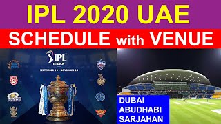 IPL 2020 Final Schedule with Venue of UAE Indian Premier League Matches Fixtures Time Table