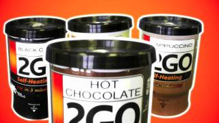 2GO Self Heating Coffee, Capuccino, Hot Chocolate, Drinks!