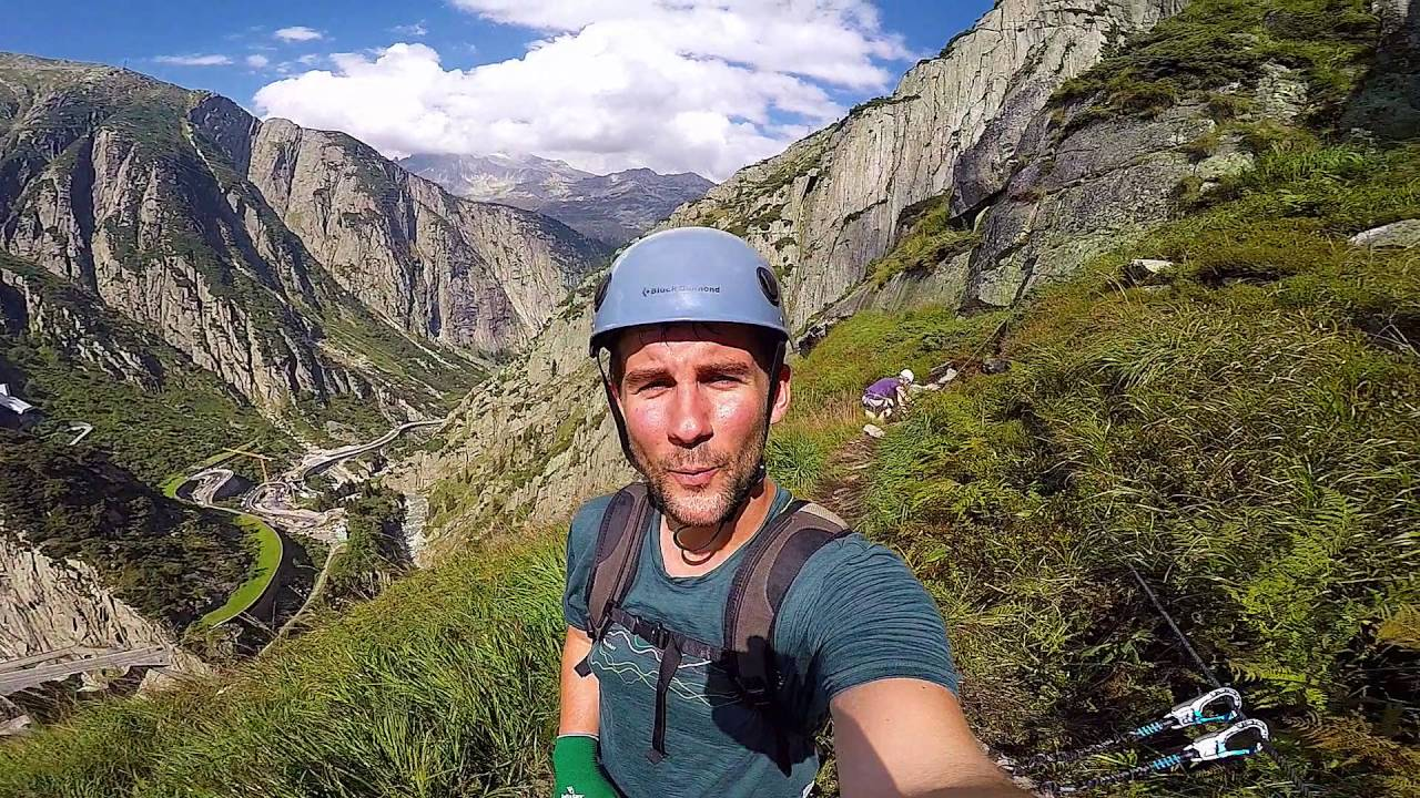 Klettersteig Diavolo : Klettersteig diavolo bei der teufelsbrücke andermatt gopro