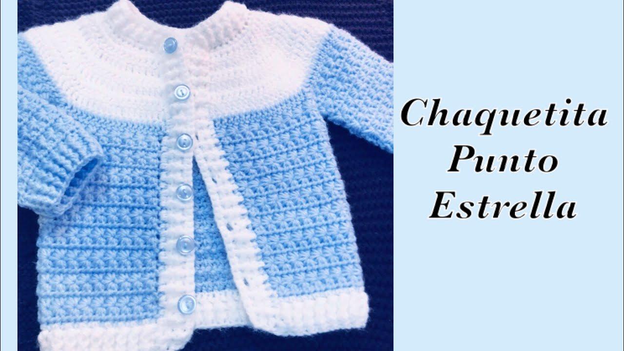 Ajuar Para Bebé Como Tejer Chaquetita Suéter Casaquinho Para Niños 0 3m Crochet For Baby 176 Youtube