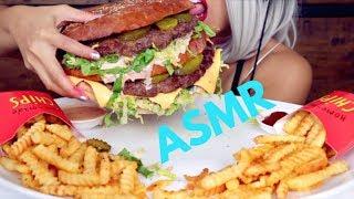 ASMR Eating Giant Big Mac | DIY McDonalds Mukbang * Big Bite Burger