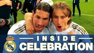 Celebrate with Zidane, Ramos, Modric & Real Madrid on the pitch after winning the Spanish Super Cup!