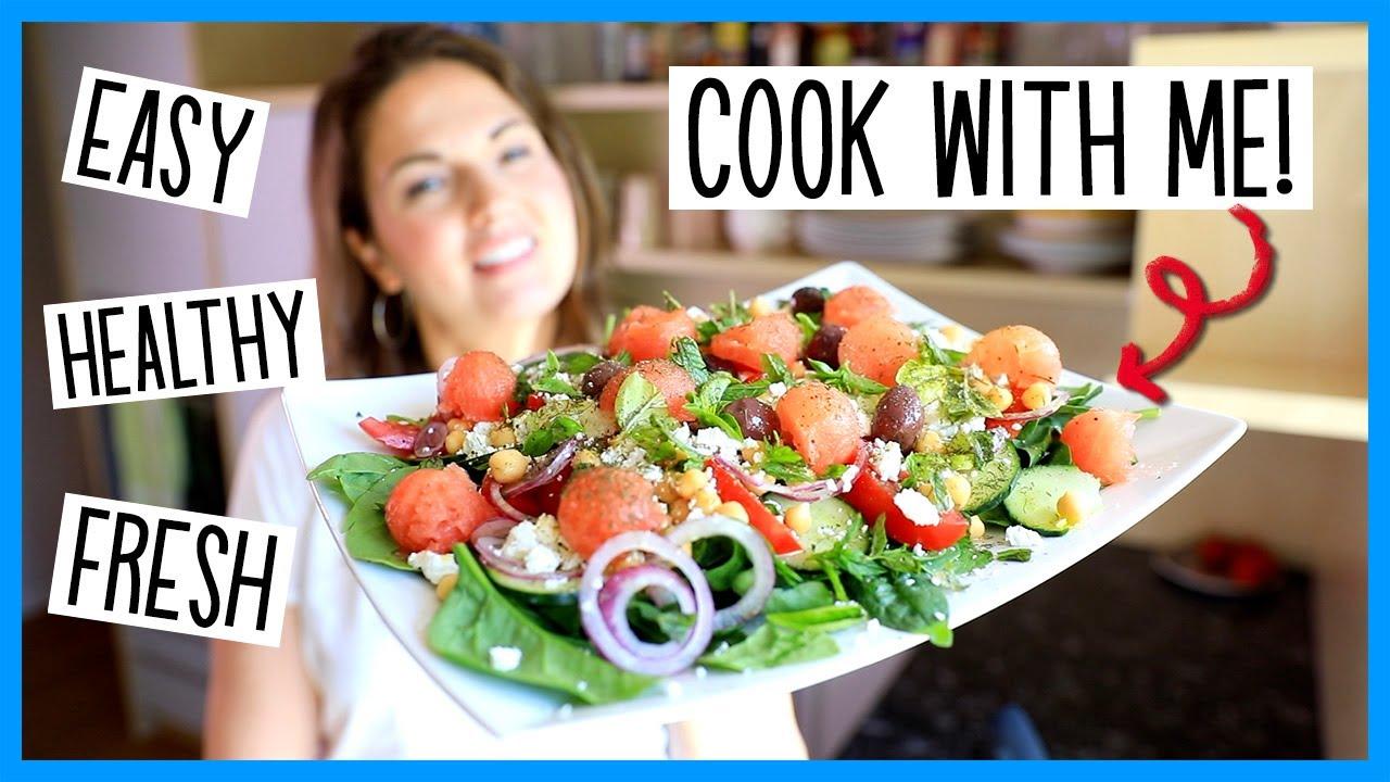 Summery Amped-Up Greek Salad!! Healthy, Refreshing & Filling (Vegetarian & Vegan)
