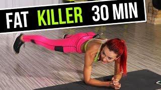 FAT KILLER - ODCHUDZAJĄCY TRENING INTERWAŁOWY 30 minut (+ rozgrzewka i rozciąganie)