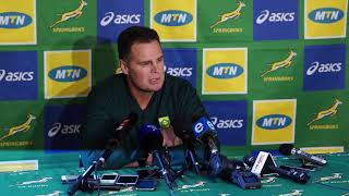 Rassie Erasmus runs the rule over his bench in the first two games