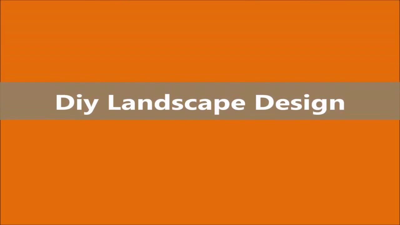 Landscaping Ideas Diy Landscape Design Ideas YouTube