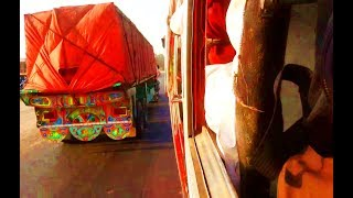 SUPER DANGEROUS BUS OVERTAKING | USE OF LOUD HORNS | CRAZY DRIVING