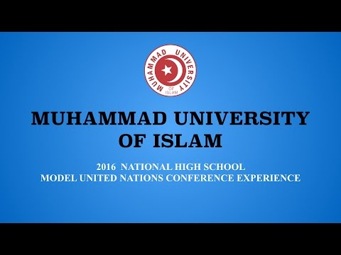 Muhammad University of Islam MUN 2016 Experience