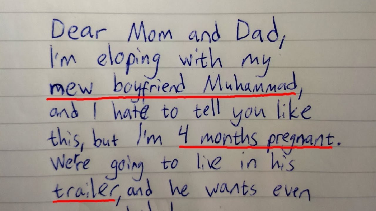 Dad Finds Farewell Letter From 16 Year Old Daughter Notices Interesting  Detail In Last Line
