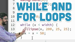 4.1: while and for Loops - p5.js tutorial